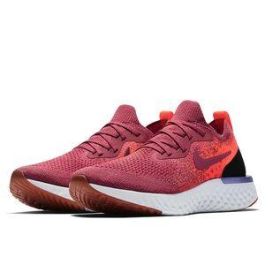 Nike Epic React Running Shoes Women 7 maroon